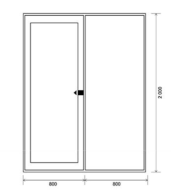 Левостороннее<br/> открывание двери