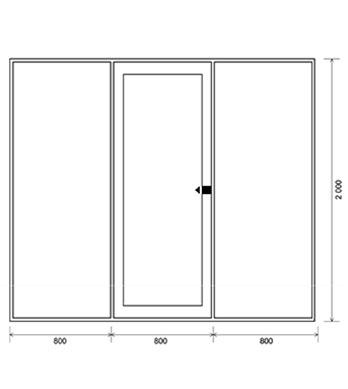 Центральное<br/> открывание двери