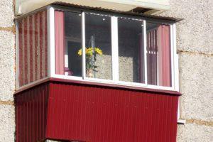 Примеры работ — балкон с прямым выносом